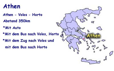 How to come from Athens to Horto