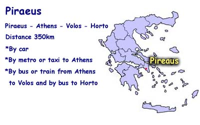 How to come from Piraeus to Horto
